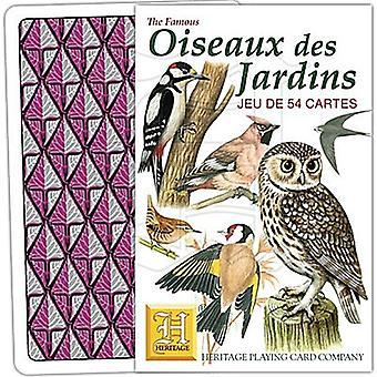 Oiseaux Des Jardins (französische Sprache) Satz von 52 Spielkarten (+ Joker)