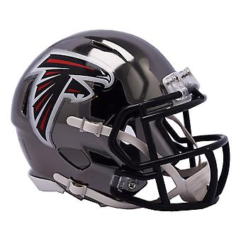 Riddell mini football helmet - NFL Atlanta Falcons CHROME