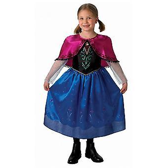 Disney congelado viajando de luxo clássico traje de Anna pequenas (3-4 anos)