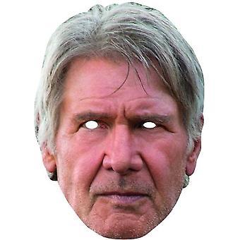 Han Solo Card maska STAR WARS lepenková maska Karneval