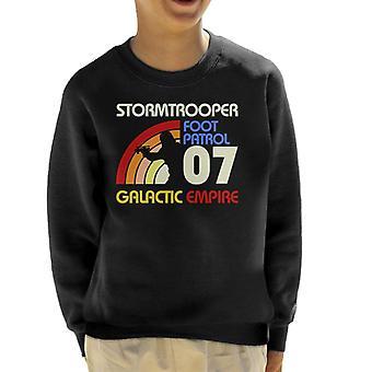 Original Stormtrooper Retro 70er Jahre Kinder Sweatshirt