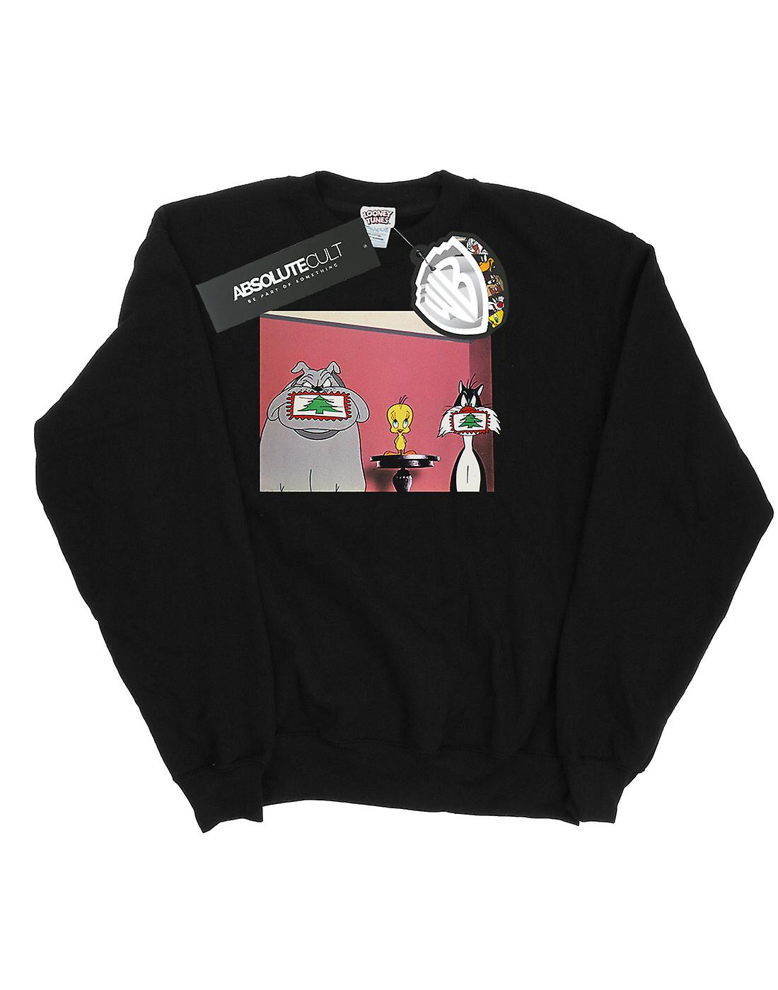 Looney Tunes Women's Christmas Postcard Sweatshirt