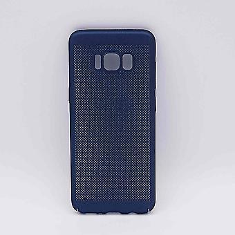 Para Samsung Galaxy S8-caso-metal del acoplamiento de alambre mirada azul