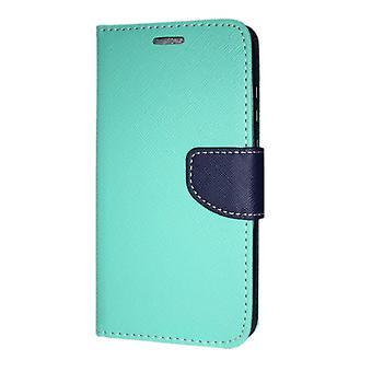 Samsung Galaxy A8 + 2018 lompakko kotelo fancy Case Mint-Navy