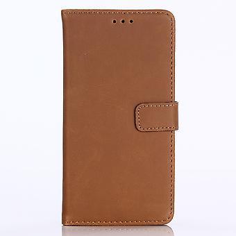 Huawei P20 Lite Retro Brieftasche Fall-Braun