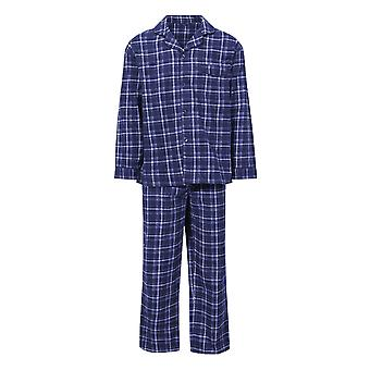 Champion Menns Cambridge Børstet Bomull Sjekk Nightwear Pyjamas