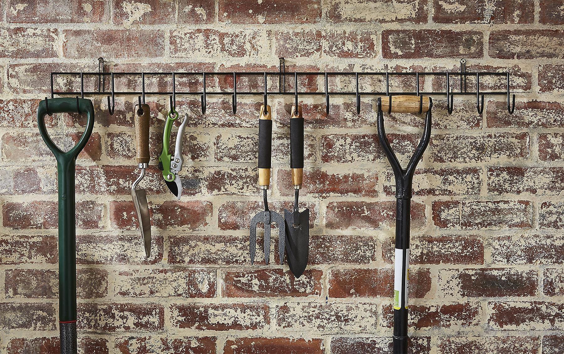 Extra-Long Tool Rack In Black Powder Coating