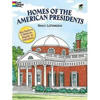 Häuser der amerikanischen Präsidenten Co (Dover Geschichte Malbuch)