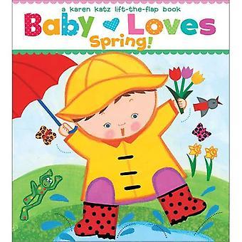 Bébé aime printemps!