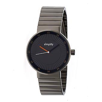 Simplify The 4600 Bracelet Watch - Charcoal/Camel