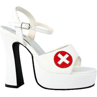 Zapato de enfermera blanco Sexy Sz 7