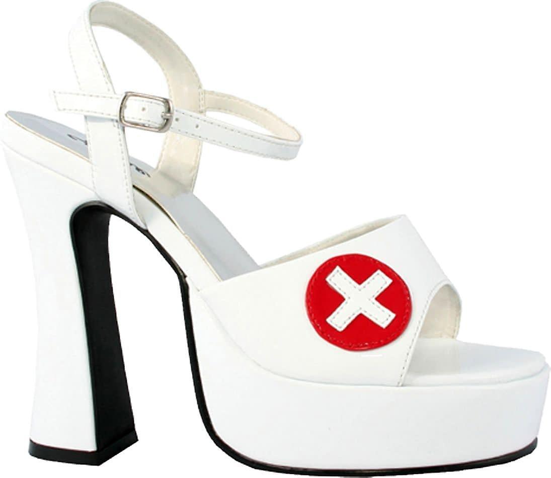 Nurse platform boots white costume accessories