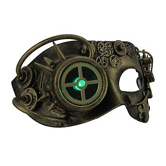 Man Droid LED Light Up Metallic Steampunk Eye Mask