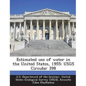 Utilisation estimée de l'eau en 1955 États Unis USGS 398 circulaire par le département américain de l'intérieur &