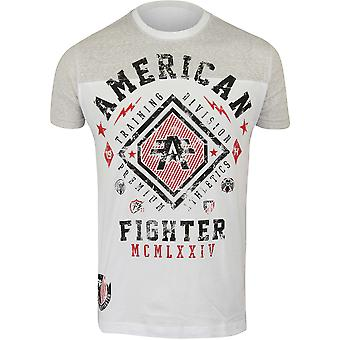 American Fighter Mens Kendall T-Shirt - White/Silver