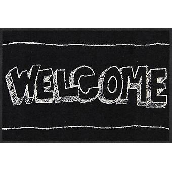 Salon Leeuw deurmat van EVIs Welkom 50 x 75 cm wasbaar vuil mat