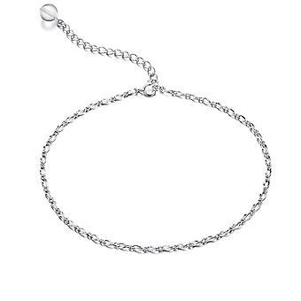 925 Sterling Silver pętli łańcucha obrzeżem urok kostki