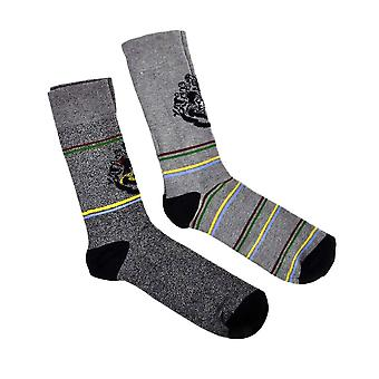 Men's Harry Potter Hogwarts Socks (2 Pairs)  - ONE SIZE