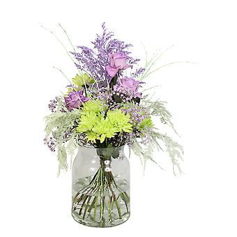 Bouquet from Botanicly – Bunch of flowers - mint – Height: 60 cm, 15 branches