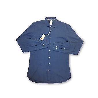 Olymp Level 5 body fit smart business shirt in blue