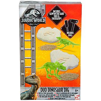 Jurassic World Duo Dinosaurier Dig Set