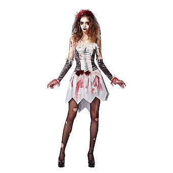 Bristol nyhed dame/damer skelet blodig bruden kostume