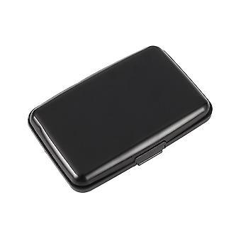 Luotto kortti/käynti kortin haltija/kotelo alumiini metalli musta
