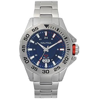 Nautica Westview Quartz Analog Man Watch with NAPWSV003 Stainless Steel Bracelet