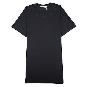 Givenchy Stars T-shirt colombiansk oversized fit sort