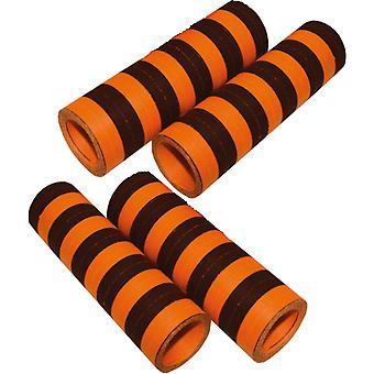 Oranssi ja musta 4 kpl serpentines