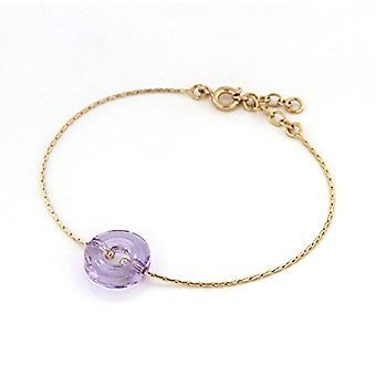 Bijoux pour tous Woman Plated Gold Crystal CRYSTALNECKLACEBRACELETANKLET