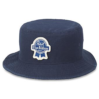 Pabst Blue Ribbon Beer Forrester Navy Blue Bucket Hat