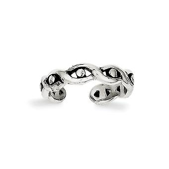 925 Sterling Silver Solid Polished Toe Ring Jewelry Gifts for Women