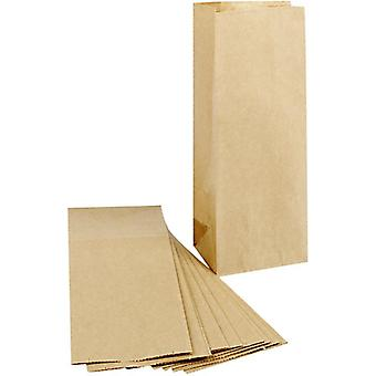 100 Brown Kraft Paper Bags with Gussets