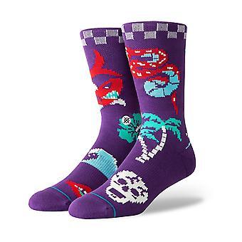 Stance Homemade Crew Socks in Purple