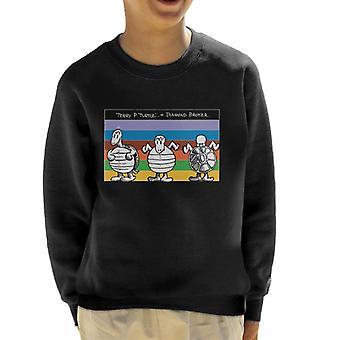 Krazy Kat Rainbow Turtle Kid's Sweatshirt