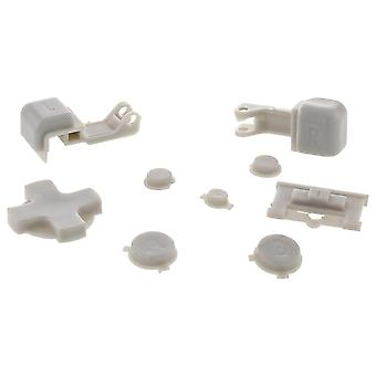 Replacement button set for nintendo game boy advance sp gba handheld - grey