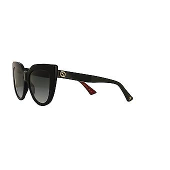 Gucci GG0164S 003 Black/Green Gradient Sunglasses