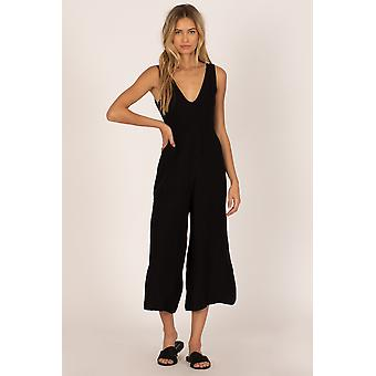 Amuse port woven jump suit - black
