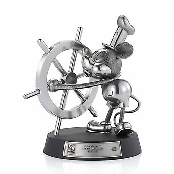 Disney By Royal Selangor 017982R Limited Edition Mickey Mouse Steamboat Willie Figurine