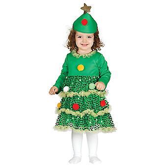 Bambini Ragazze Di Natale Albero Fancy Abito Costume