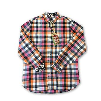 Tailor Vintage shirt in pink and orange check