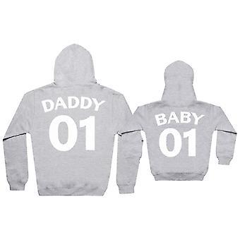 Papá 01 Bebé 01 - Conjunto a juego - Bebé / Niños sudadera con capucha y sudadera con capucha papá