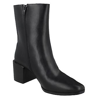 Spot On Womens/Ladies Chunky PU Blocked Heel Ankle Boots