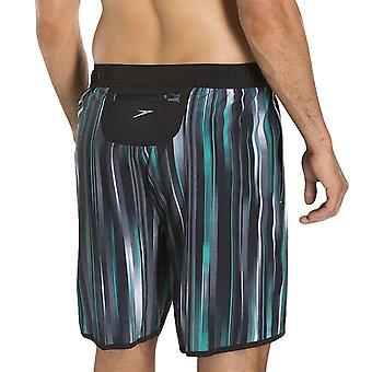 Speedo Herren Glide 18 Zoll Schwimmen Board Watershorts Aqua Badeshorts schwarz/grau