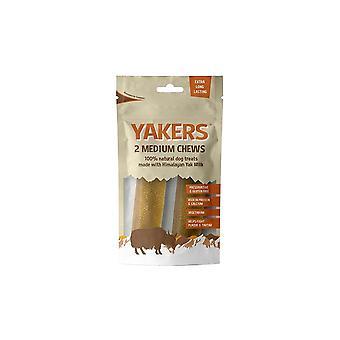 Yakers medium hund Chews (pakke med 2)
