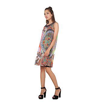 Desigual Ženy's Marin 1970's Tisk Šifon šaty