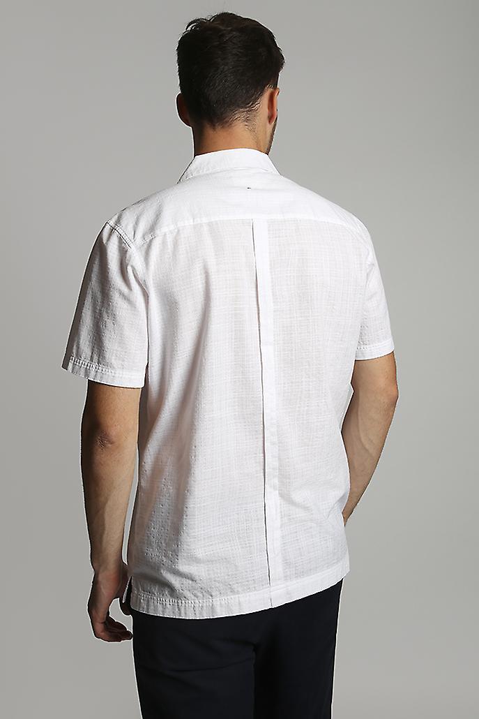 Hymn Terrace Textured Check Resort Shirt White