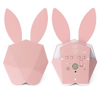 Bunny Smart Alarm Clock Night-Light - Cutty Clock Connect- MOB, Pink