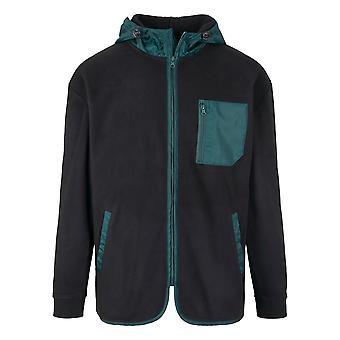 Urban Classics Herren Zip Hoodie Contrast Polar Fleece